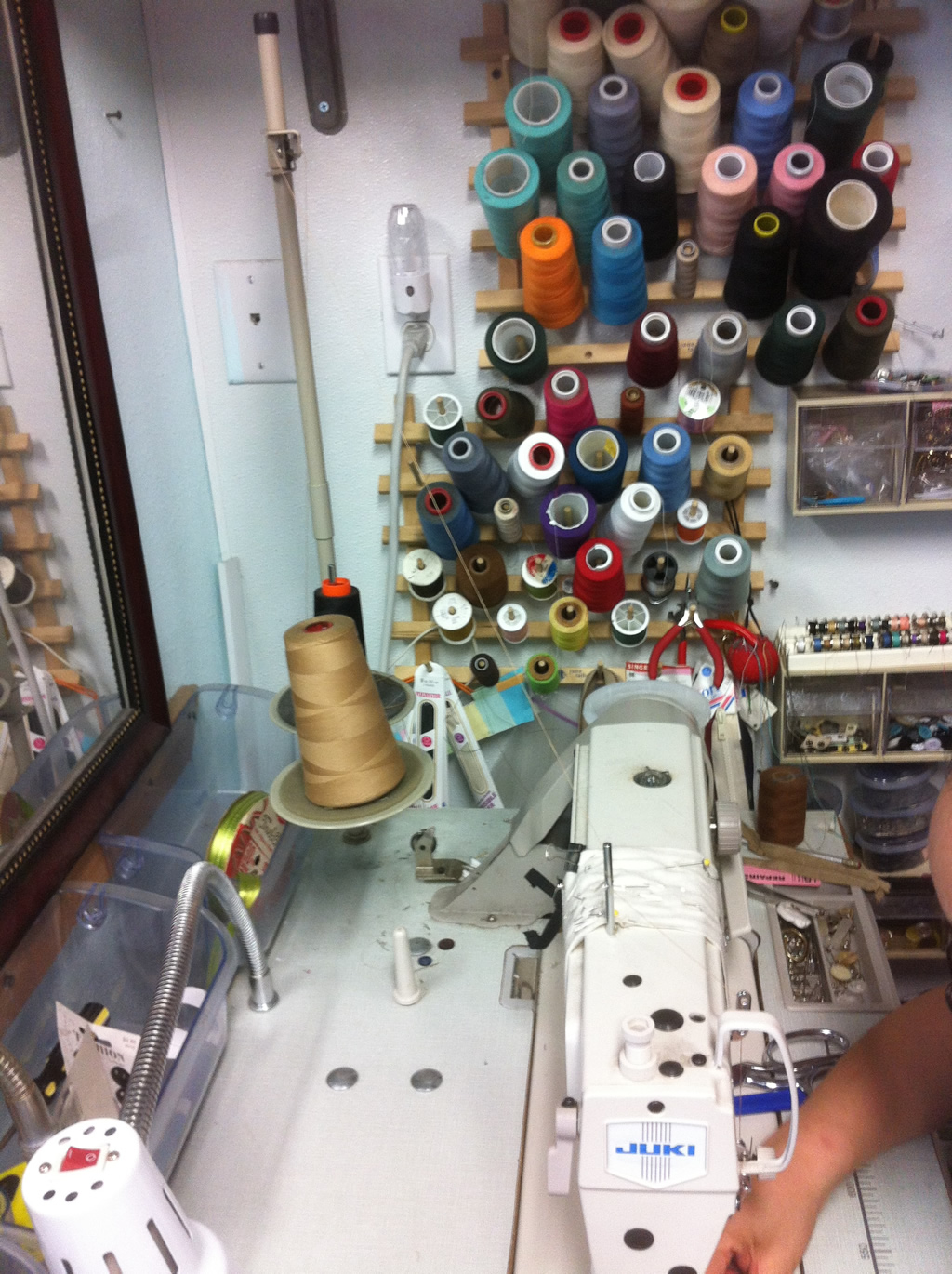 Threads, Bobbins, and Juki Sewing Machine